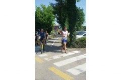 Silvio Gaspari durante la 7 km