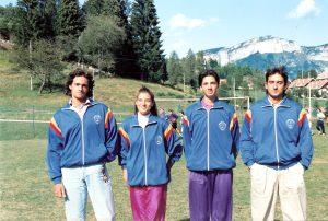 L'arbitro Internazionale Femminile Alessia Lazzaretto con i fratelli arbitri Emanele, Cristiano e Franz Davide