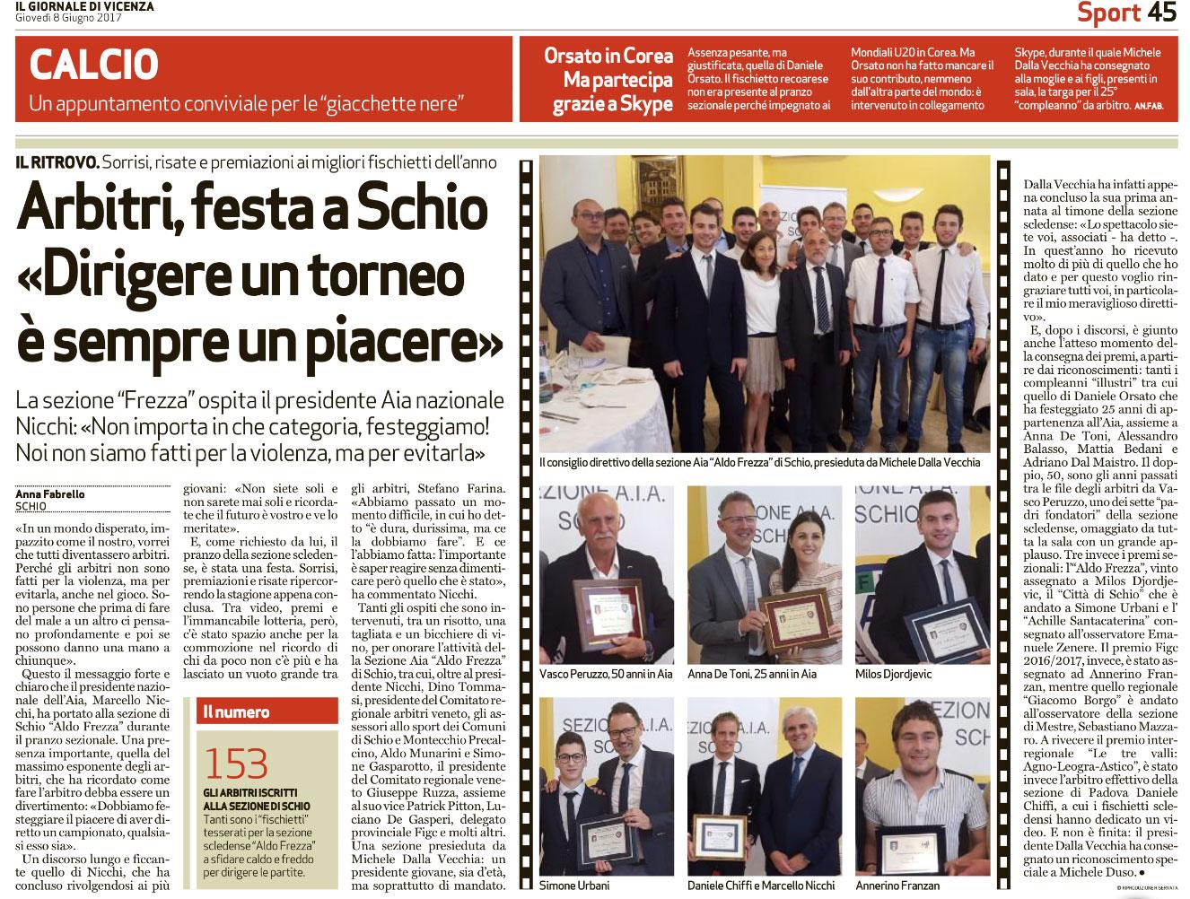 Diconi Di Noi Su Il Giornale Di Vicenza E Sport Vicentino Aia Schio
